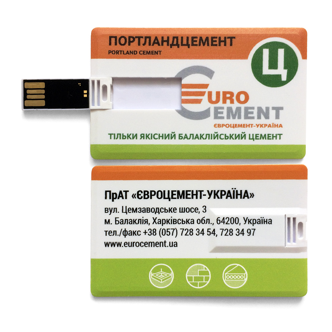 USB-Флешка на 8Gb  PLASTIC CREDIT CARD