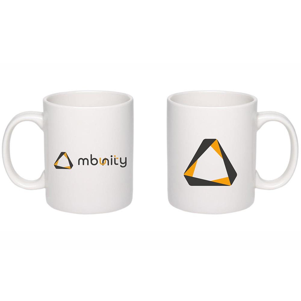 Чашка белая с логотипом (цена с нанесением)