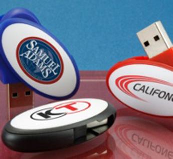 USB-Флешка на 64Gb овальная