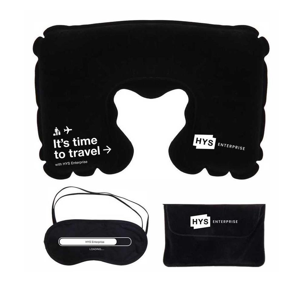 Дорожный набор с надувной подушкой под нанесение логотипа