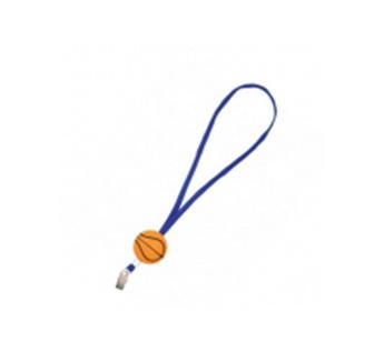 Арт. 839448 Ремешок на шею с антистрессом «Баскетбол»