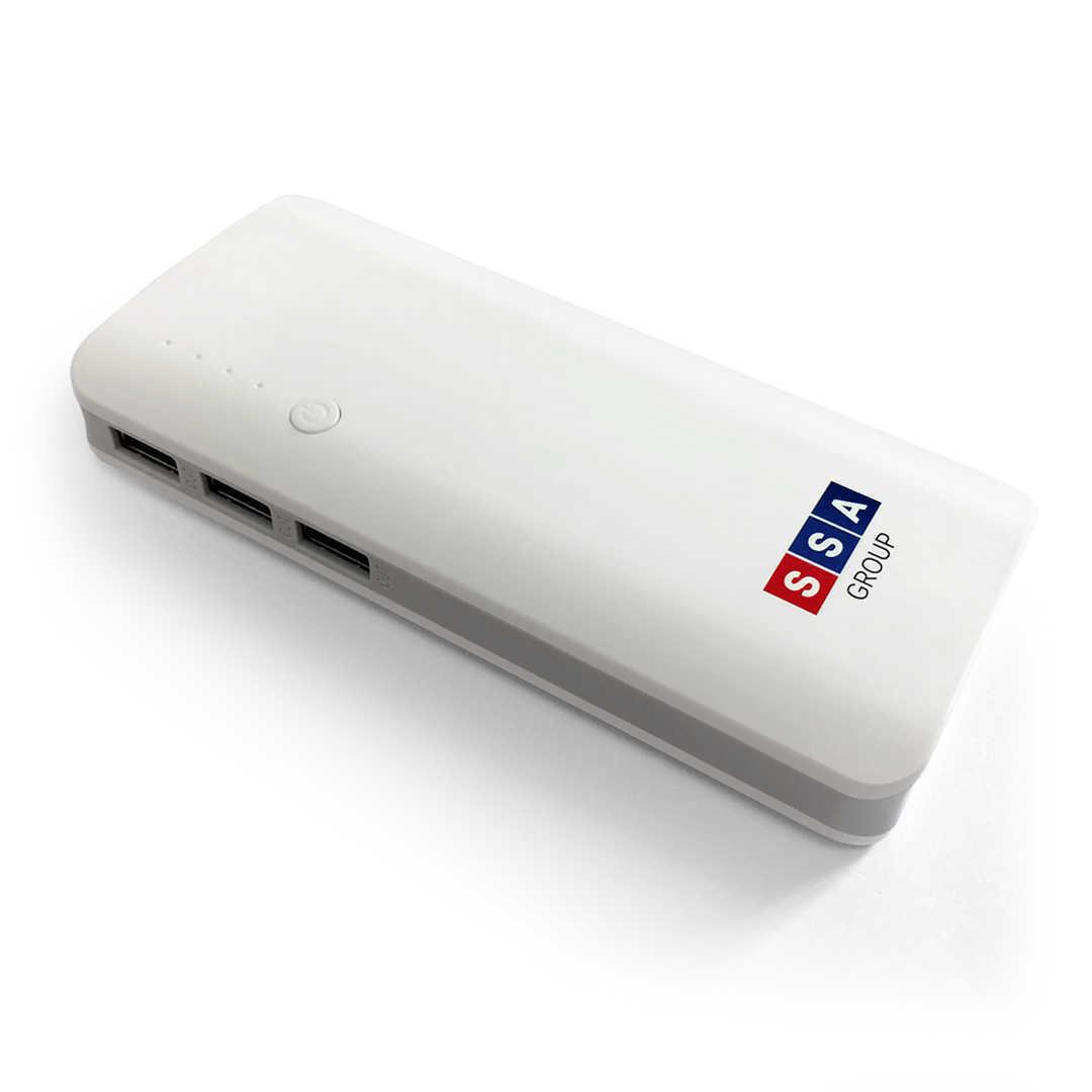 Печать на повербанке Hardy емкостью 11000 mAh на 2 USB