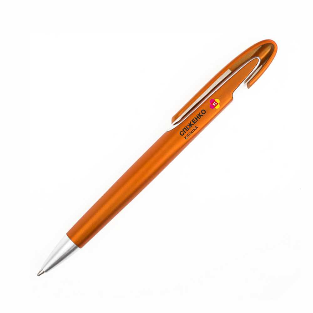 Пластиковая ручка с логотипом с широким клипом