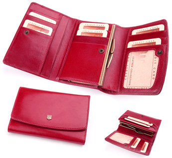 Арт.018D Бумажник женский из кожи