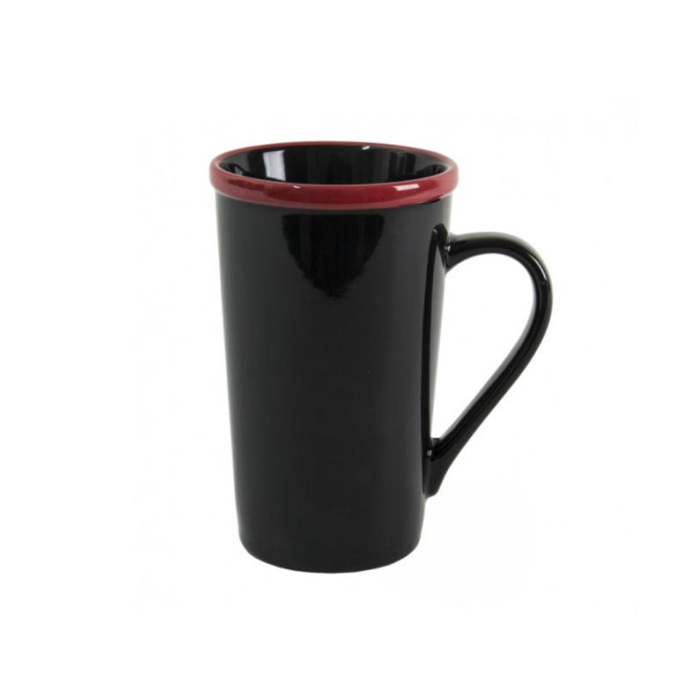Керамическая черная чашка ERMINA