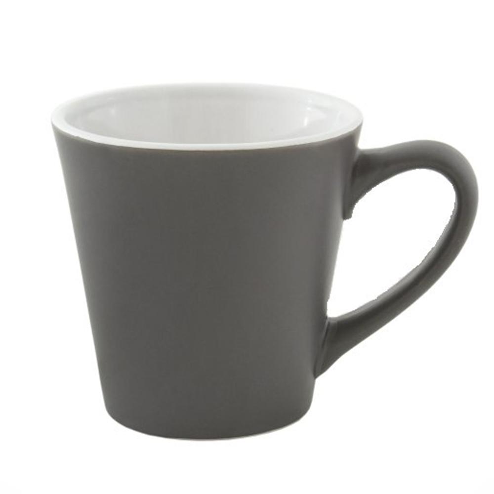 Чашка серая керамическая MIATA с логотипом