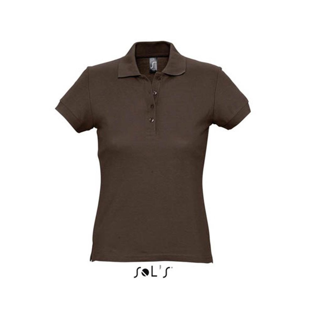 Женская рубашка  поло с логотипом марки Солс
