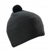 Вязаная шапка с логотипом на флисе