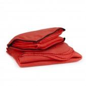Флисовый плед-подушка с логотипом
