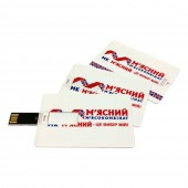 USB-Флешка на 16Gb  PLASTIC CREDIT CARD 3 цвет