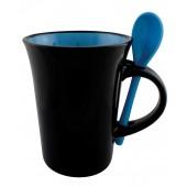 Чашка керамическая с ложкой DORIS Optima с логотипом