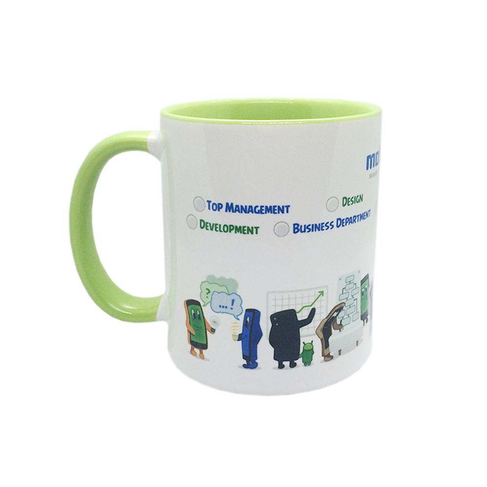 Чашка цветная евроцилиндр под сублимацию (цена с нанесением)
