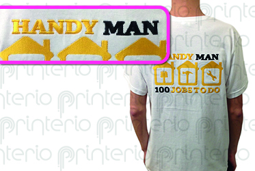 нанесение логотипа на одежду Handy MAN